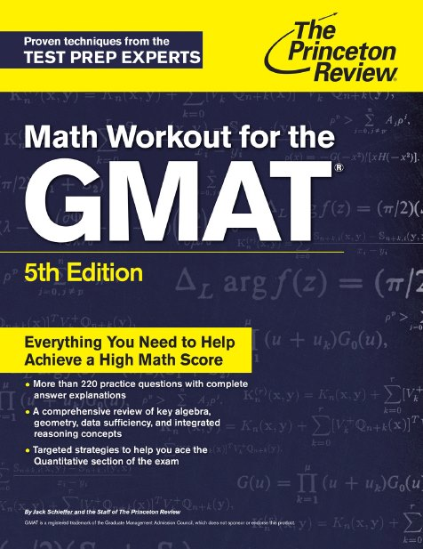 Princeton GMAT Math Workbook