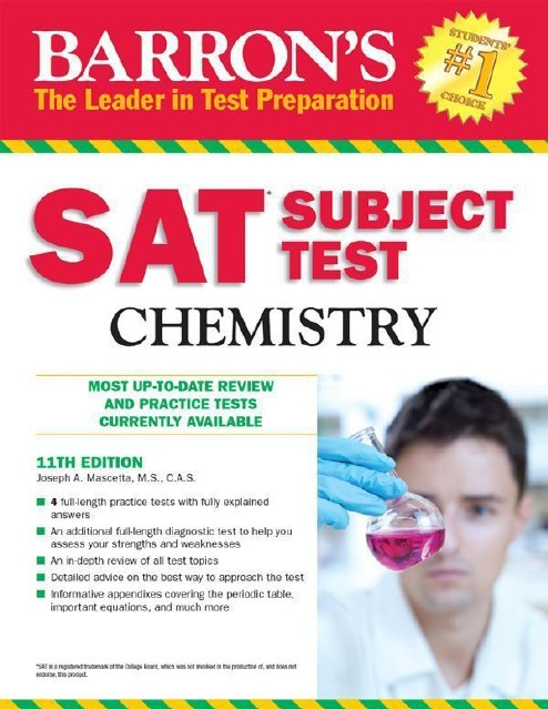 SAT Subject Chemistry BARRON'S