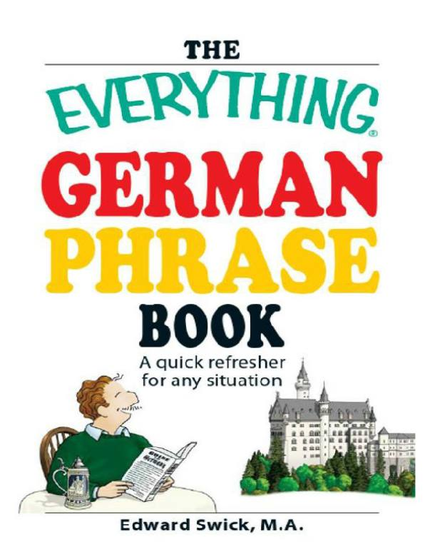 کتاب German phrase book